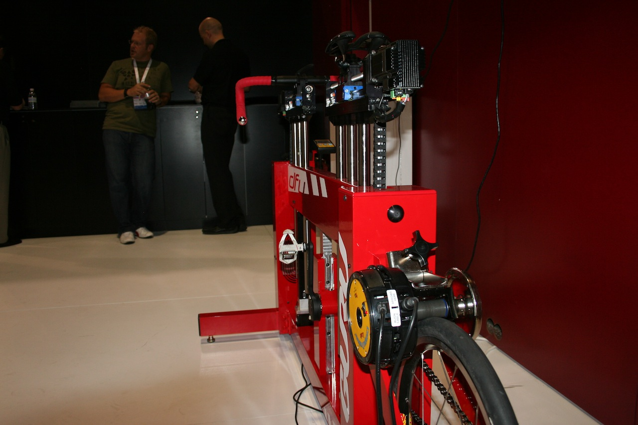 The fitter can move the rider\'s setup mid-pedal stroke © Josh Liberles