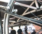 The seat stays are dramatically tapered. Cyclocross @ Interbike 2010. © Cyclocross Magazine