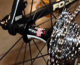 Even the hubs of his Easton EC90SL wheels are branded with the Rapha / Focus logo. © Cyclocross Magazine