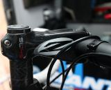 Kelli Emmett's TCX Advanced is steered by Zipp's beefy SL145 carbon stem. © Cyclocross Magazine