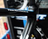 Kelli Emmett's Giant carbon TCX Advanced SL - being built the day before CrossVegas 2011. © Cyclocross Magazine