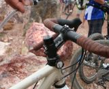 Pull to drink, and the reels and magnets snap the hydration tube back in place. ©Cyclocross Magazine