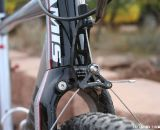 The CNC'ed cable hanger is integrated into the all carbon fork. © Cyclocross Magazine
