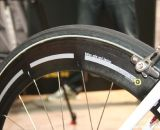 The nipples are at the hubs of the 3T Mercurio 60 LTD wheels, and the spokes slot into the rim. ©Cyclocross Magazine