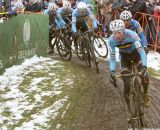 The Belgians take over the lead at the Elite World Championships of Cyclocross. © Janet Hill