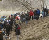 Escaping the flooding at the Elite World Championships of Cyclocross. © Janet Hill