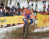 Vos got the lead and never looked back at the Elite World Championships of Cyclocross. © Janet Hill