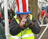 Even the volunteers were fans at the Elite World Championships of Cyclocross. © Janet Hill