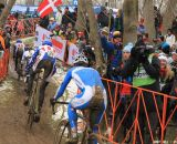 Trebon makes the other racers look tiny at the Elite World Championships of Cyclocross. © Janet Hill