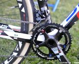 No Yaw yet: A 2011 SRAM Red front derailleur still handles front shifting. ©Cyclocross Magazine