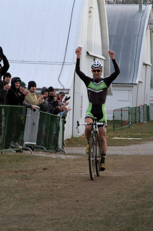 Jamey Driscoll takes the big win. Jingle Cross 2010 Day 3. © Amy Dykema