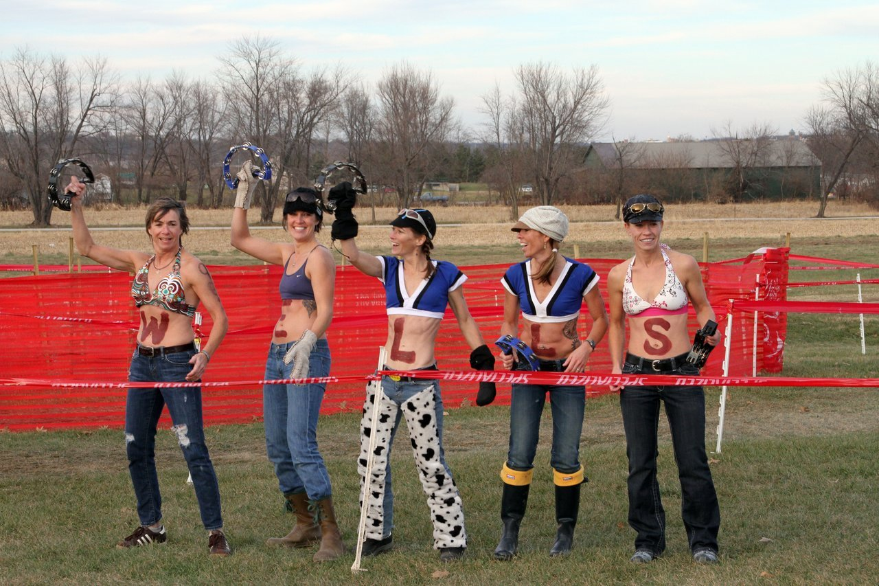 These ladies were waiting for Todd and Troy after the finish line. Jingle Cross 2010 Day 3. © Amy Dykema