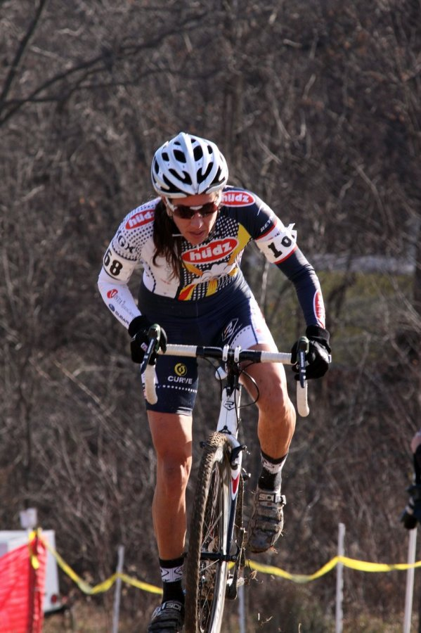 Nicole Duke gives chase. Jingle Cross 2010 Day 3. © Michael McColgan
