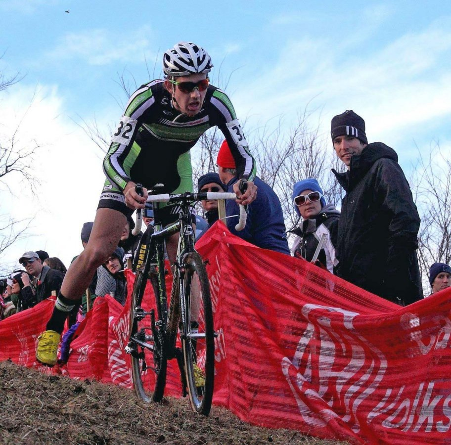 Driscoll mastered the difficult turns. Jingle Cross 2010 Day 3. © Michael McColgan
