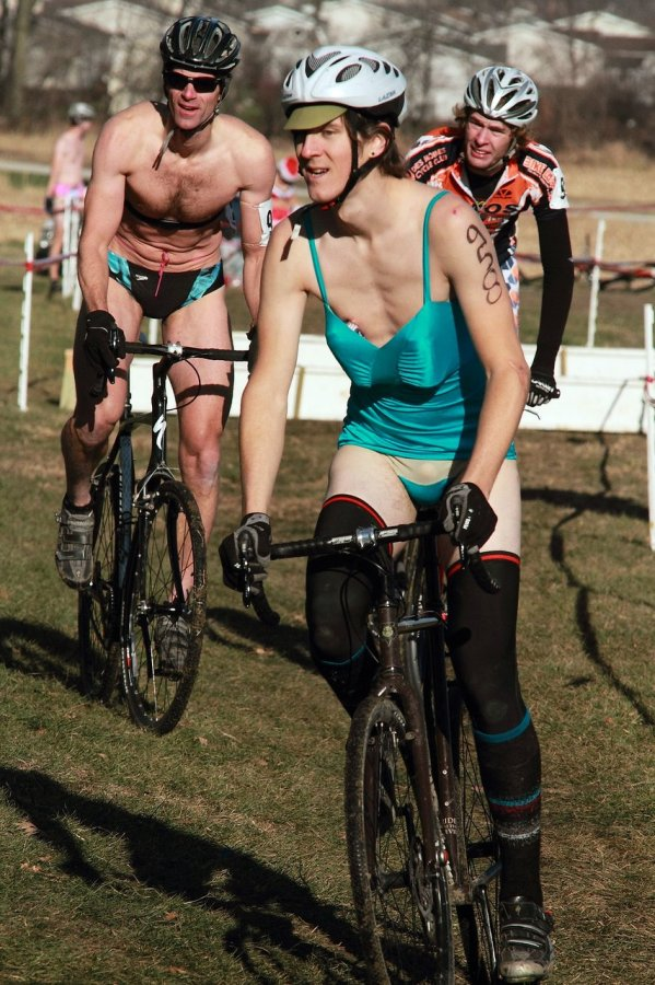 The Speedo madness. Jingle Cross 2010 Day 3. © Michael McColgan