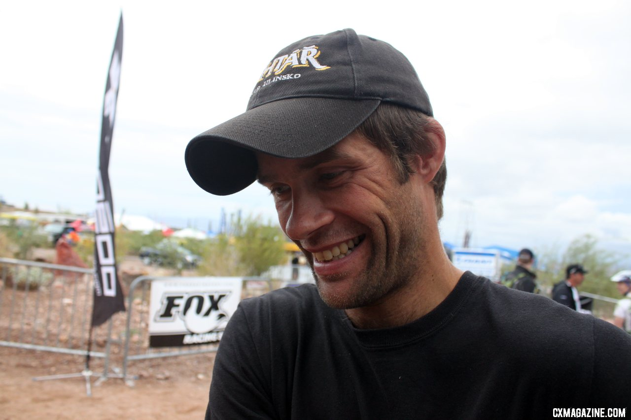 Parbo may be working hard to get it all together last minute, but he\'s psyched to be racing.