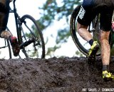 Brook Watts gets his shoes dirty on day two of the USA Cyclocross Nationals. © Joe Sales