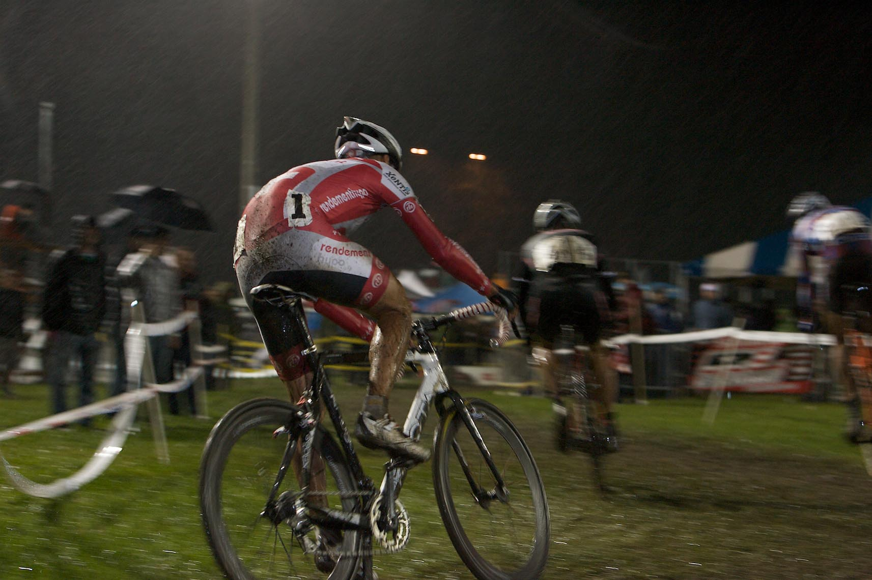 Christian Heule waited until the final lap to make his winning move. by Joe Sales