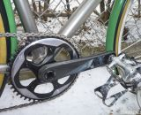 A giant 46t Force CX1 chainring keeps McCarthy ahead of the cars on his commute.