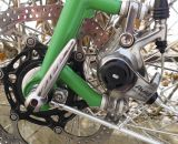 Walt Works provides the steel fork, with a post mount disc brake mount and fender mounts.