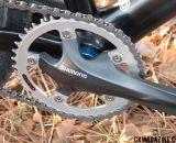 Shimano CX70 crankset, 39-tooth single chain ring.