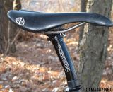 Fountain chooses a All City Gonzo saddle, mounted on a Thomson Elite seat post.