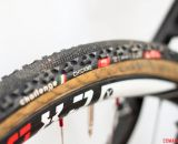 Challenge Chicane tubular tires on 2014 Masters 30-34 National Champion Justin Lindine's Redline Conquest Team Disc cyclocross bike. © Cyclocross Magazine