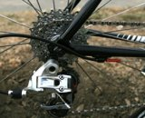 The Sram Red rear derailer shifts over a Sram 1070 cassette, which sheds mud better than the company's PowerDome cassette © 2010 Matt James