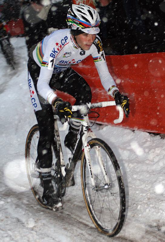 Albert raced near the front and finished in third in Kalmthout. ? Bart Hazen