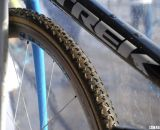Compton is riding a Trek prototype alloy frame with a Trek carbon cyclocross fork. © Cyclocross Magazine