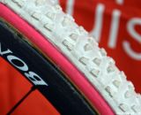 Bontrager Aeolus wheels and FMB XL  Gripos on Katie Compton's Trek Crockett. © Cyclocross Magazine