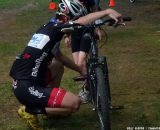 Lindine shows off his mechanic skills © Cyclocross Magazine