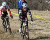 Andrew Reardon leads through the thick grass