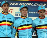Juniors on the podium in Koksijde. © Bart Hazen