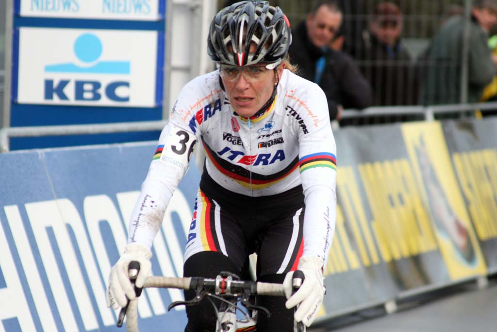 Hanka Kupfernagel. Koksijde Elite Women World Cup 11/28/2009 ?Bart Hazen