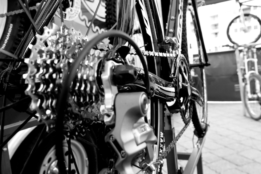 The 2011 Kona Major Jake is equipped with Shimano Ultegra parts. © Joe Sales