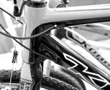 Extra material where the seat tube joins the head tube contributes to a stout front end. © Joe Sales