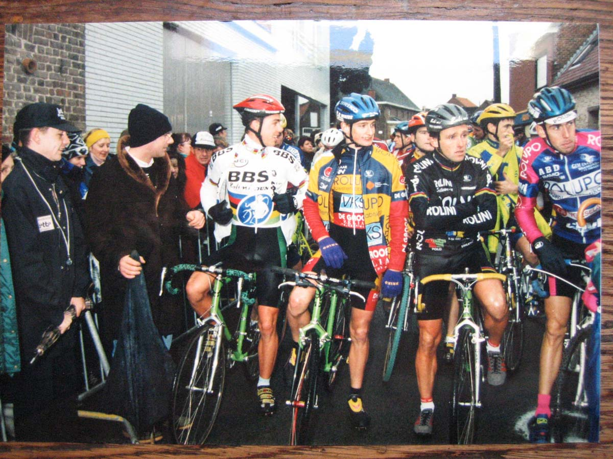 Sven Nys, Bart Wellens, and Danny De Bie at the start line - from left to right. photo: courtesy