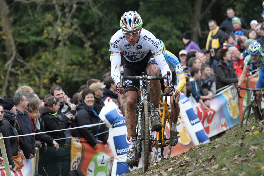 World Champion Sven Nys in the drops. © Bart Hazen