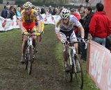 Stybar and Vantornout push through the mud © Bart Hazen
