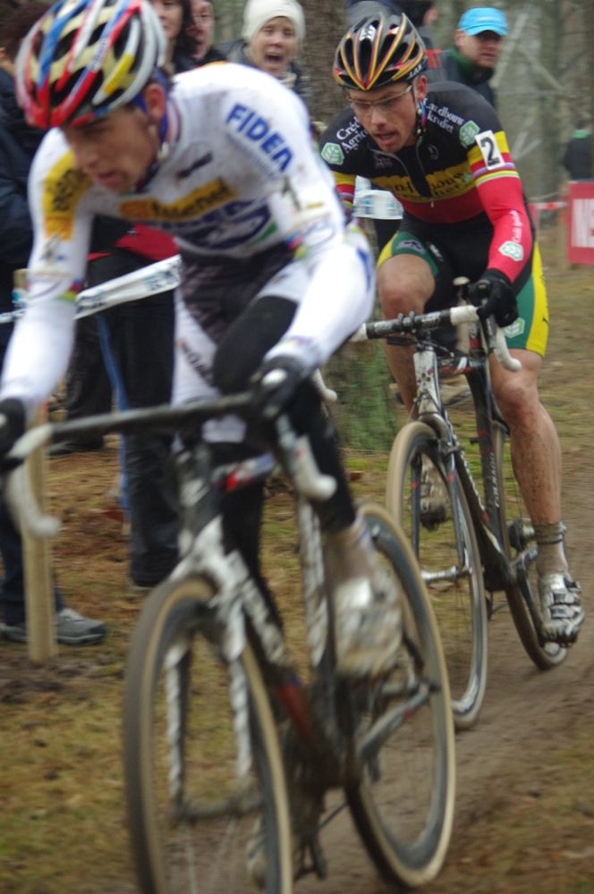 Stybar briefly took the lead but Nys was just too strong today.  Photo courtesy of Christine Vardaros.