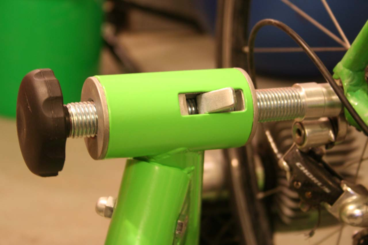 The tension knob combined with the quick release allows for easily mounting and dismounting bikes ? Josh Liberles