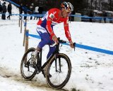 Lars Boom picked tough conditions to return to cross. © Bart Hazen