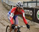 Daphny van den Brand rode aggressively in the four-up battle ? Dan Seaton