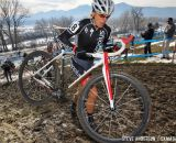 in the Masters Women 45-49 and 50-54 Karen Hogan leading in 45-49 and 50-54 at the 2014 National Cyclocross Championships. © Steve Anderson