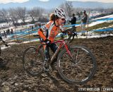 in the Masters Women 45-49 and 50-54 Margell Abel chasing Hogan in the 45-49 and 50-54 at the 2014 National Cyclocross Championships. © Steve Anderson