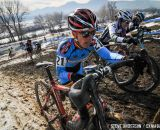 in the Masters Women 45-49 and 50-54 The painful runup in the 45-49 and 50-54 at the 2014 National Cyclocross Championships. © Steve Anderson