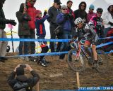 in the Masters Women 45-49 and 50-54 Hogan surrounded by fans in the 45-49 and 50-54 at the 2014 National Cyclocross Championships. © Steve Anderson