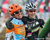 in the Masters Women 45-49 and 50-54 Thrilled finishers in the 45-49 and 50-54 at the 2014 National Cyclocross Championships. © Steve Anderson