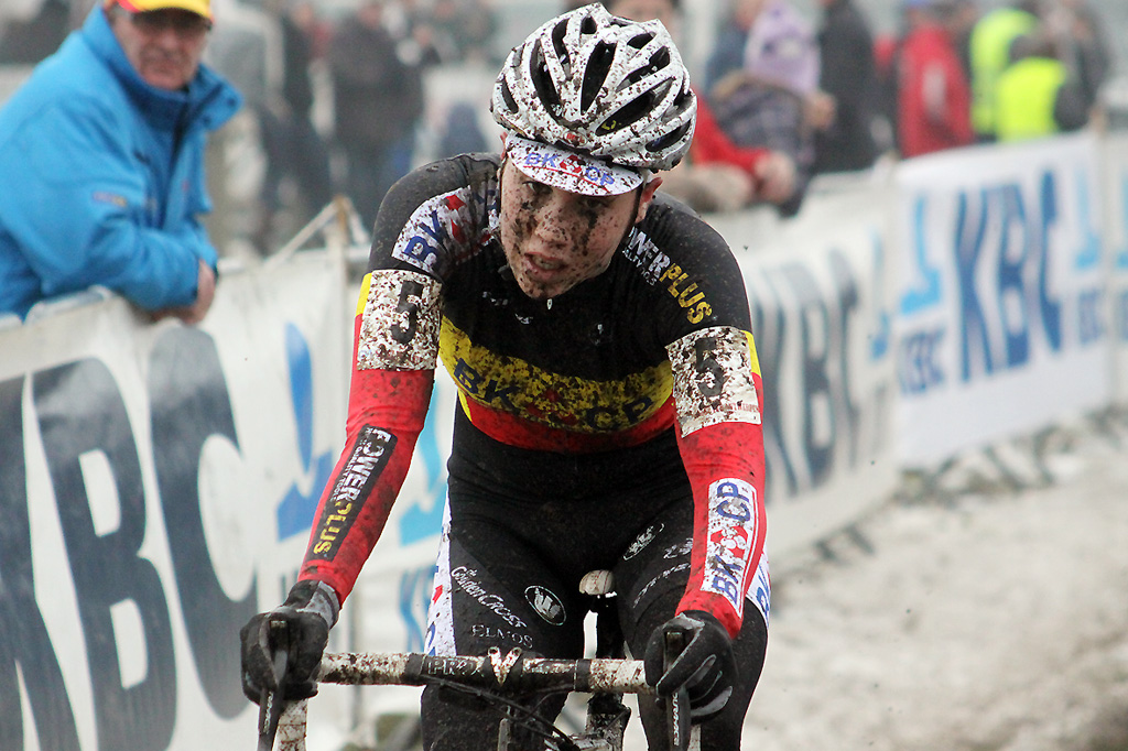 Belgian champion Sanne Cant finished fourth today © Bart Hazen